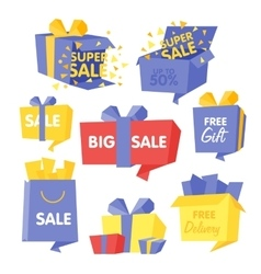 Price and Sale box set of vector image