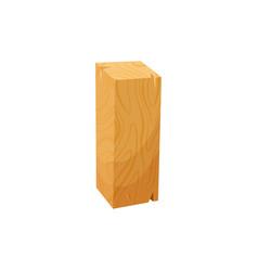 rasped plane timber plank isolated cartoon icon vector image
