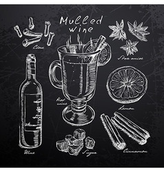 Restaurant menu on a blackboard vector