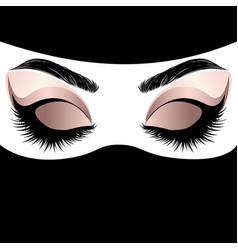 rose gold arabic woman eye makeup vector image