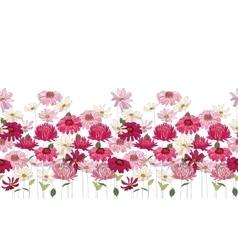 Seamless pattern brush with herbs daisygerbera vector image