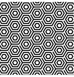 seamless pattern with abstract hexagons vector image