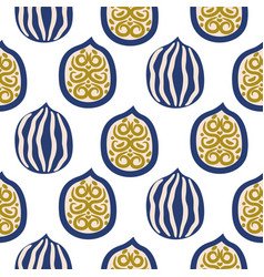 Seamless pattern with walnuts in modern style vector