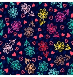set banners colorful floral seamless pattern vector image