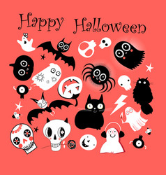 set different objects for hallowee vector image