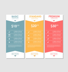 Set offer tariffs ui ux banner for web app vector