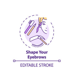 Shaping eyebrows concept icon vector