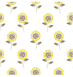 simple meadow florals tender colors seamless vector image