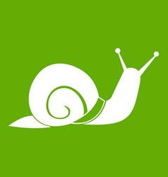 Snail icon green vector