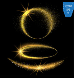 sparkling confetti wave stardust glitter vector image