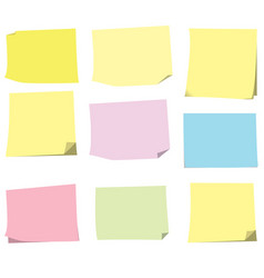 sticky paper note vector image