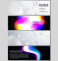 The layout of headers banner design vector