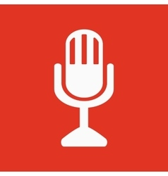 The mic icon Microphone symbol Flat vector image