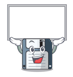Up board cartoon shape in the floppy disk vector