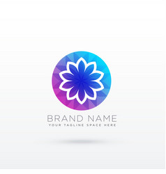 vibrant flower logo design concept vector image