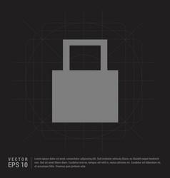 web lock icon - black creative background vector image