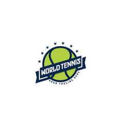 World championship tennis logo badge and sport vector