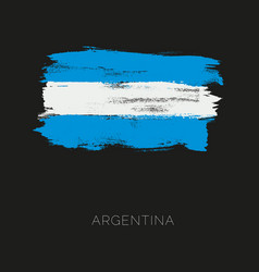 argentina colorful brush strokes painted national vector image vector image