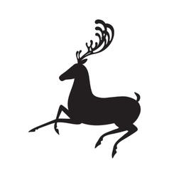 Deer black isolated elk vector