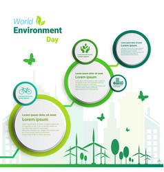 earth green city world environment day ecology vector image