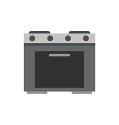 Gas stove icon flat style vector image