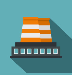 industrial building icon flat style vector image