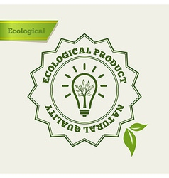 Natural quality stamp vector image