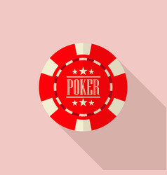poker chip vector image
