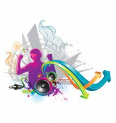 power of sound vector image vector image