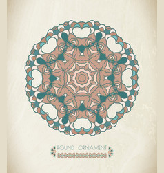 round ornament art vector image vector image