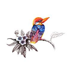 watercolor drawing bird artistic painting at vector image vector image