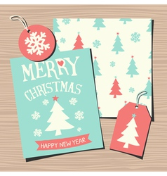 Christmas Templates Paper Collection vector image vector image