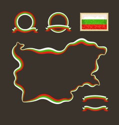 Colors of Bulgaria vector image