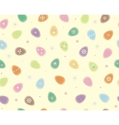 eggs pattern easter vector image
