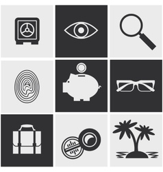 Money finance banking icons set vector image vector image