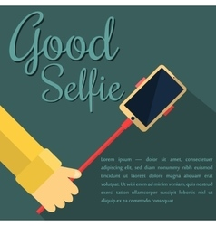 Monopod Selfie man Self Portrait Tool For vector image
