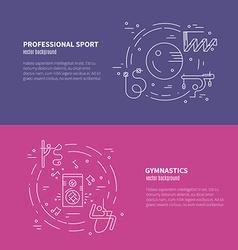 Rhythmic Gymnastics Concept vector image