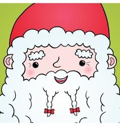 Santa Claus face portrait vector image