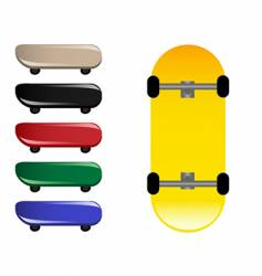 skateboards vector image vector image