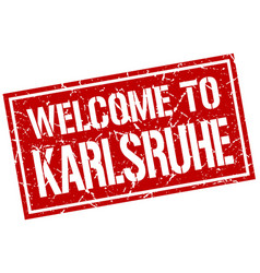 welcome to karlsruhe stamp vector image vector image