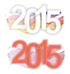 2015 text for the New Year vector image