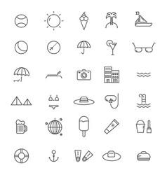 beach line icon vector image