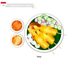 Satay or Indonesian Barbecue vector image vector image