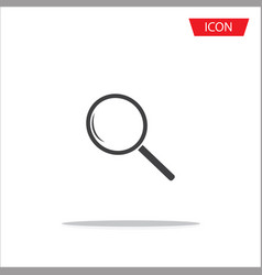 search icon magnifying glass icon vector image vector image