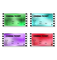 Set of colored blurry cinema ticket vector image vector image