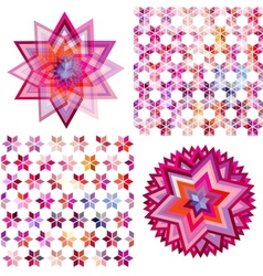 Set of four abstract background with geometric vector image vector image
