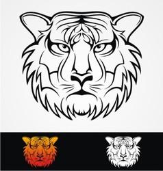 Tiger Head Tribal Mascot vector image vector image