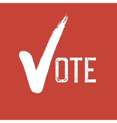 Voting Symbol On red background vector image vector image