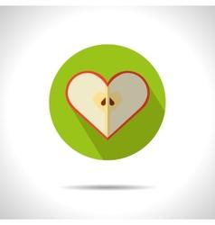 apple heart icon vector image