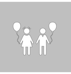 Children computer symbol vector image